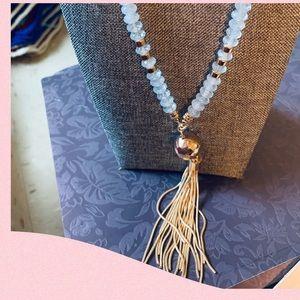 Adrienne Vittadini crystal and gild tone necklace